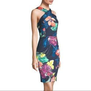 Trina Turk Blue Sheath Floral Dress (USED)